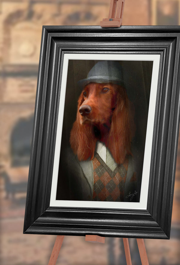 Setter Pet Portrait at Turner & Walker