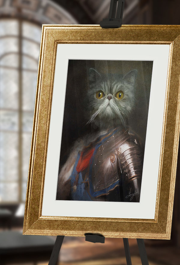 Sir Mittens Pet Portrait at Turner & Walker