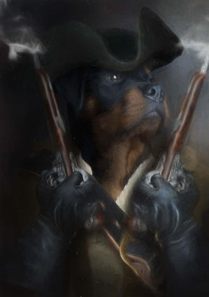Stand & Deliver Pet Portrait at Turner & Walker