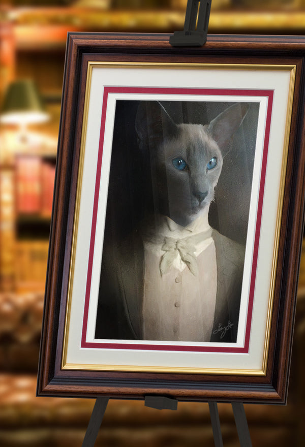 The Count Pet Portrait at Turner & Walker