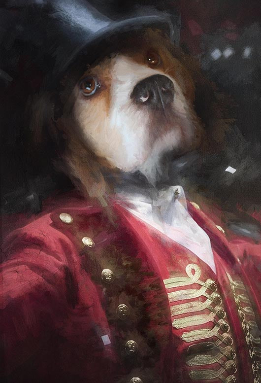 The Greatest Showman Pet Portrait at Turner & Walker