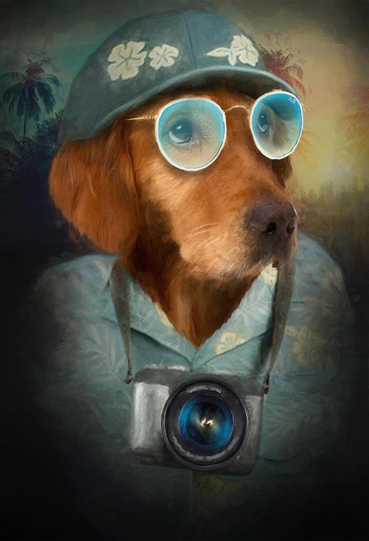 The Tourist Pet Portrait at Turner & Walker