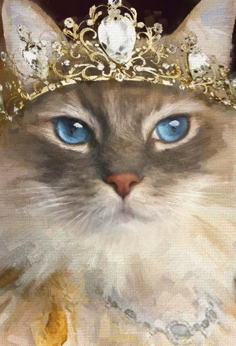 The Queen To Be Pet Portrait at Turner & Walker