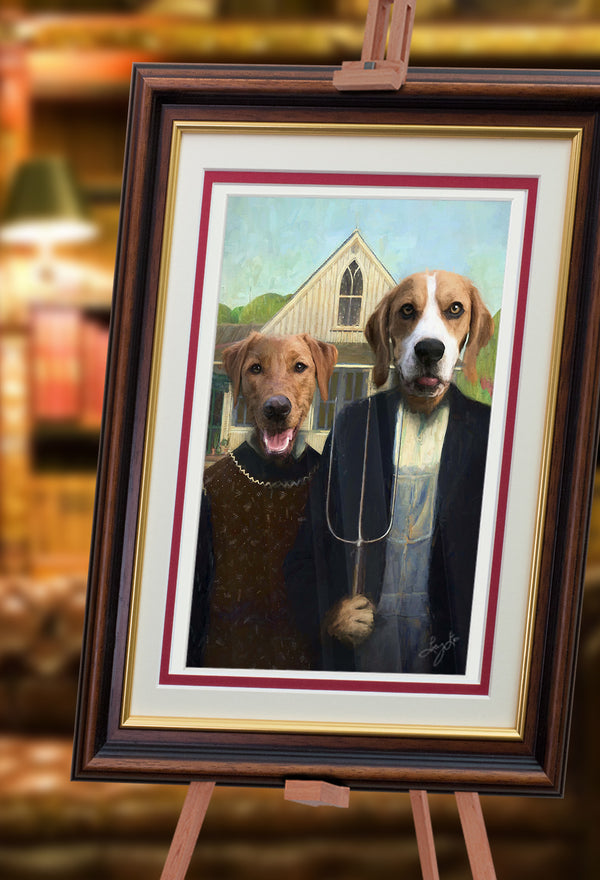 Pooch Gothic Pet Portrait at Turner & Walker