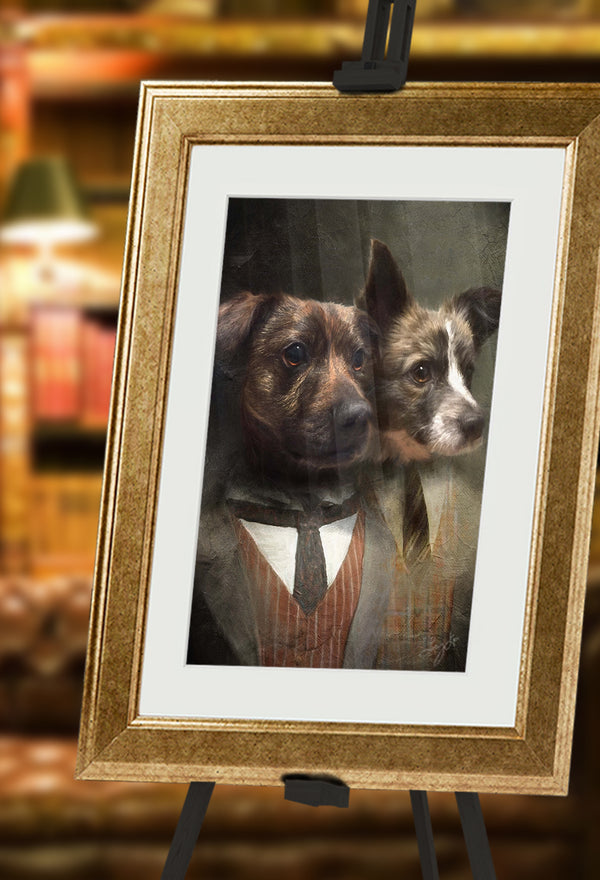 Pair of Gents Pet Portrait at Turner & Walker