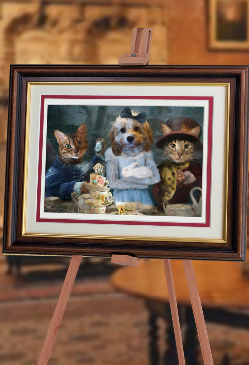 Alice and Friends Pet Portrait at Turner & Walker
