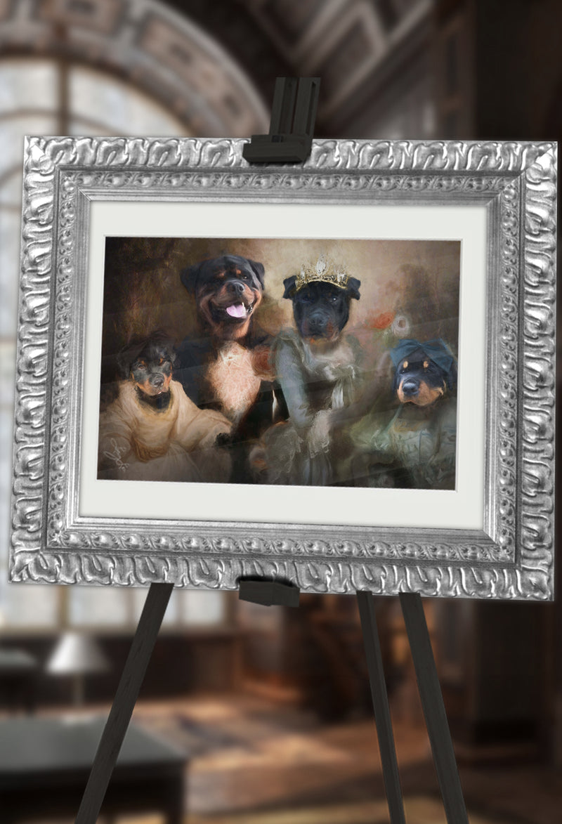 Happy Family Pet Portrait at Turner & Walker