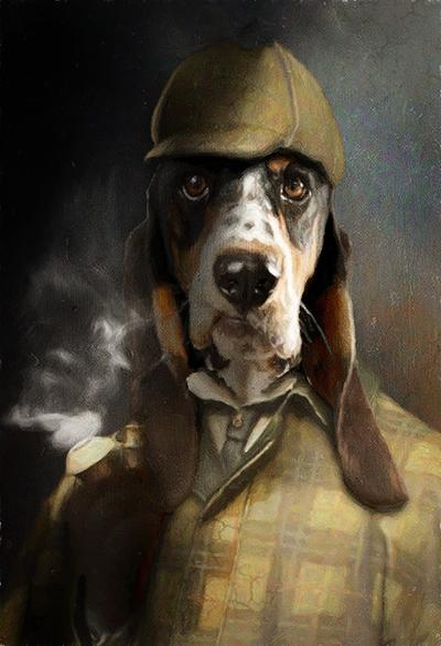 Sherlock Pet Portrait at Turner & Walker