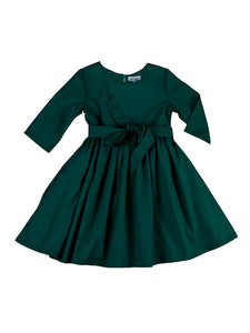 Lilian dress, bottle green