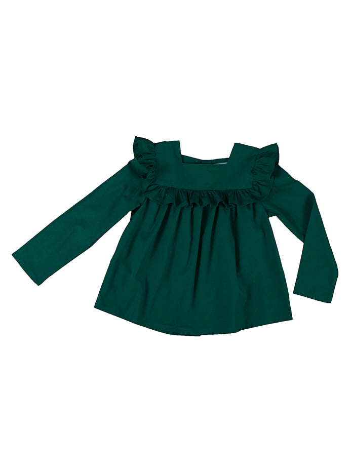 Astrid blouse, bottle green