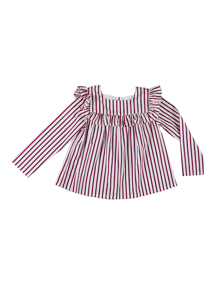 Astrid blouse, fall stripes