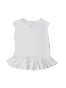 Linda top, white