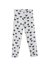 Judit leggings, white w. butterflies