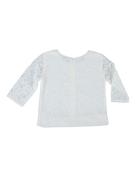 Madeleine blouse, off-white lace