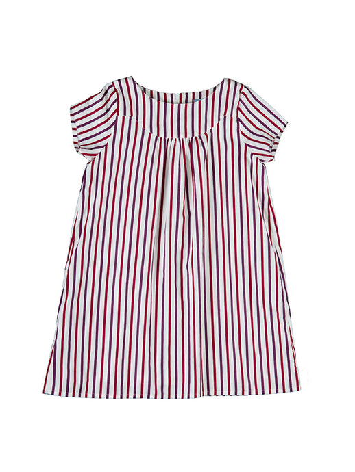 Emma dress, autumn stripe