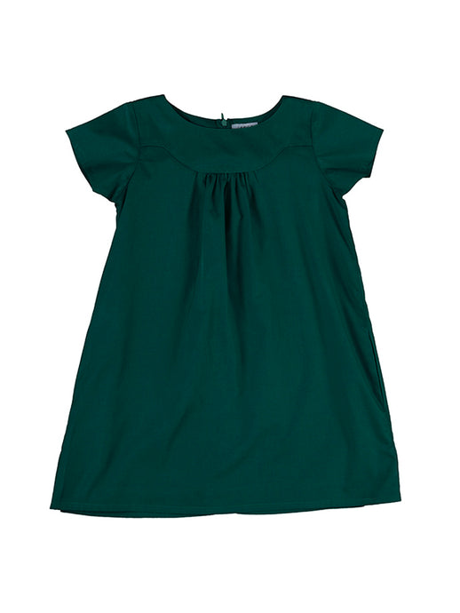 Emma dress, bottle green