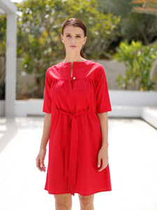 Alex dress, holly red