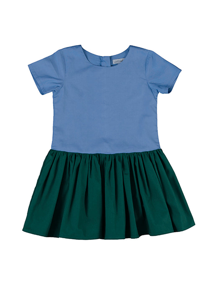 Leonie dress, blue/bottle green