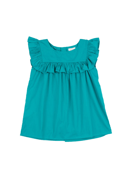 Justine top, turquoise