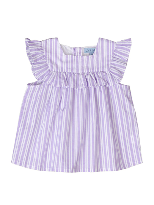 Justine top, purple stripes