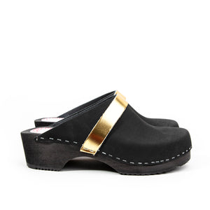 Solna unisex black and gold