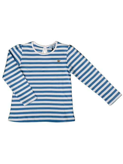 Melia long sleeved t-shirt, blue stripes