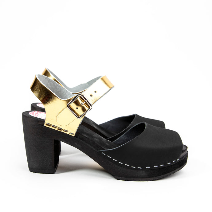 Stockholm black and gold, black sole