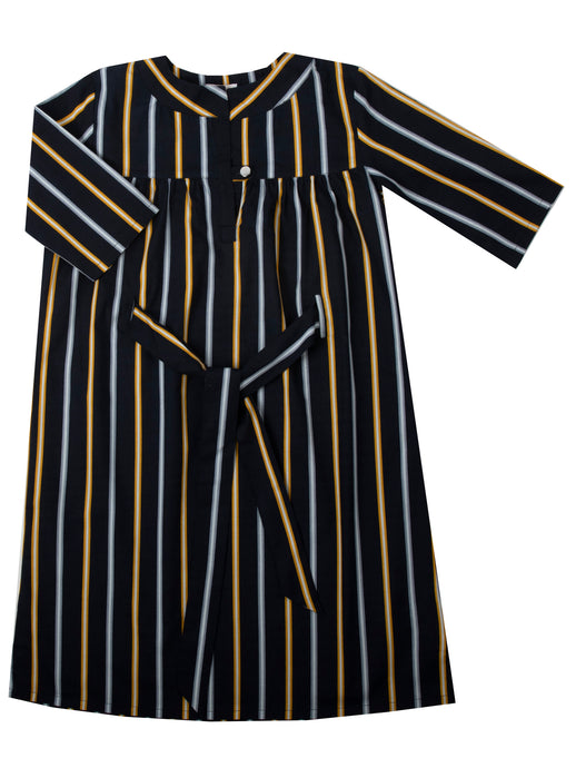 Alex dress, yellow stripe