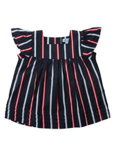 Anna top, red stripe