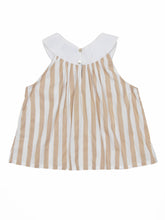 Cattis top, beige stripes