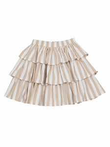 Elif skirt, beige stripe