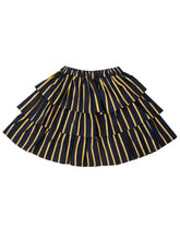 Elif skirt, navy w. stripes