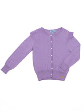Elvira cardigan, purple