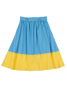 Johanna skirt, bluebell/corn