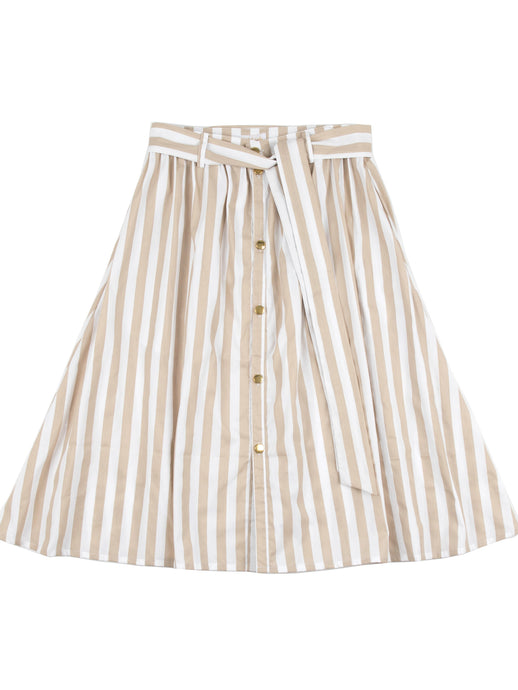 Johanna skirt, beige stripes