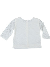 Madeleine top, white lace