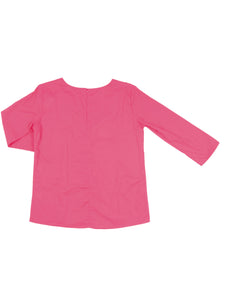 Madeleine top, dark pink