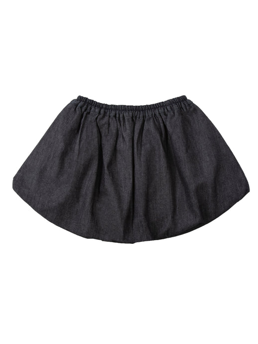 Magda skirt child, dark blue denim