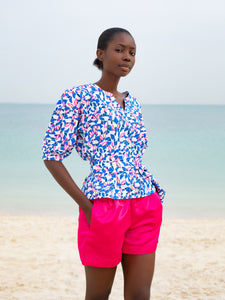 Flora shorts, electric pink