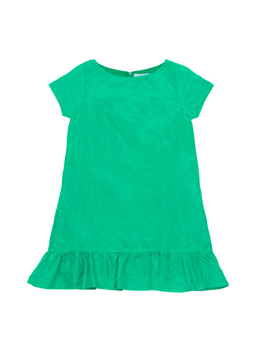 Mila dress silk, emerald