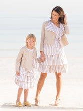 Susanne skirt, beige stripes