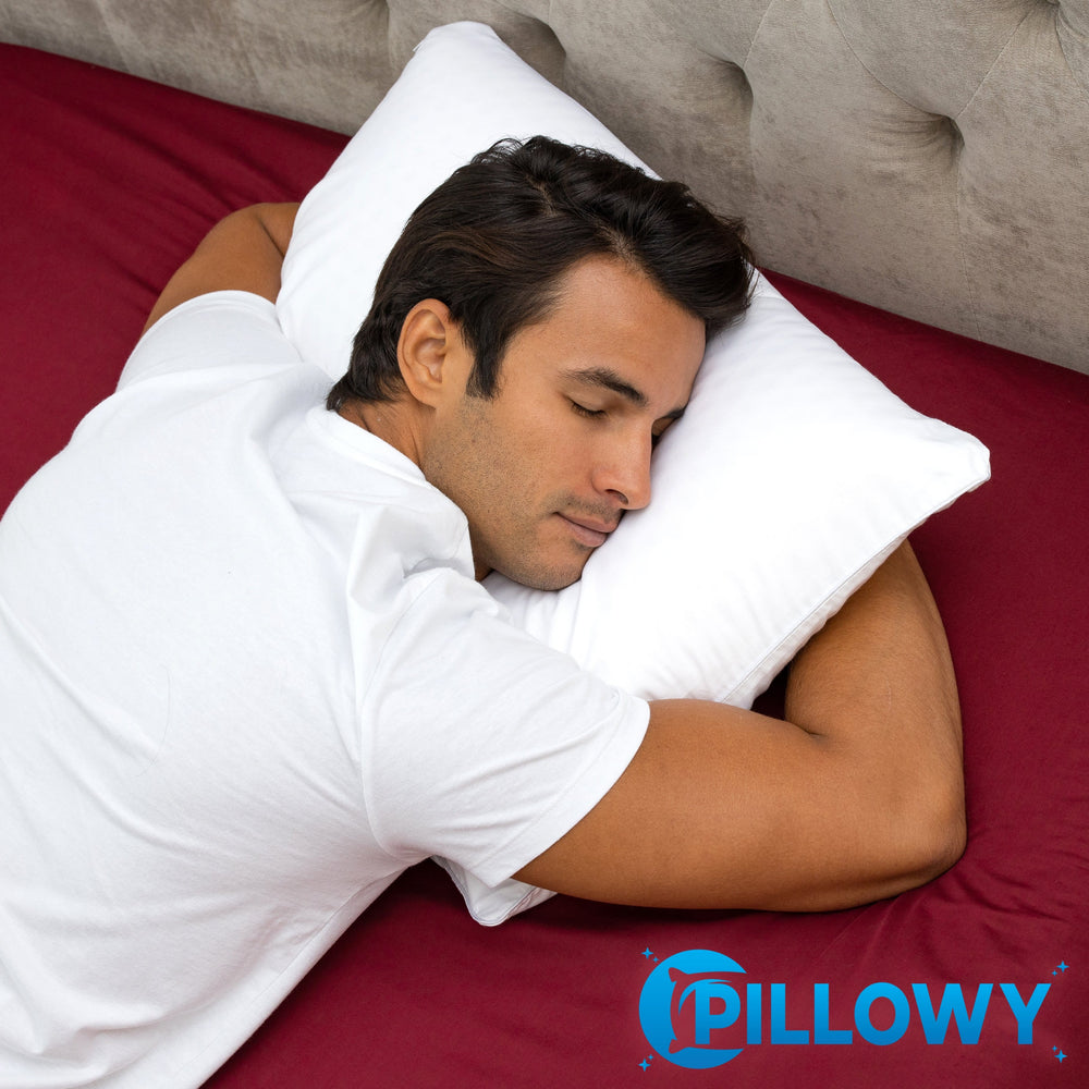 Talalay Latex Bed Pillow With 100% Cotton Breathable Cover - Talalay Latex is a Buoyant Natural Material With Soothing Properties That Relieve Pressure on Muscles so Aches and Pains Melt Away