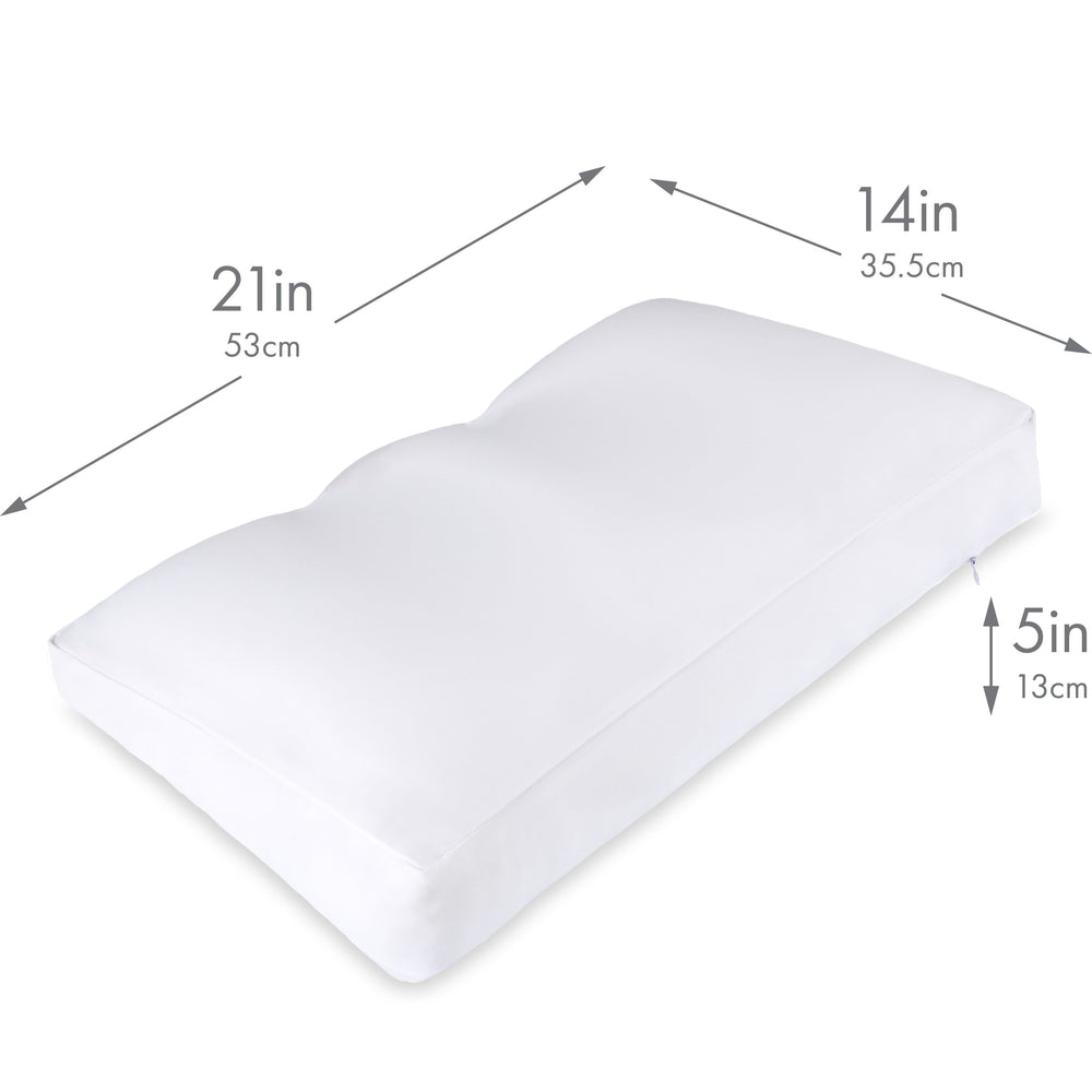 Cover Only for Premium Microbead Bed Pillow, Medium Extra Smooth  - Ultra Comfortable Sleep with Silk Like Anti Aging Cover 85% spandex/ 15% nylon Breathable, Cooling Pure White