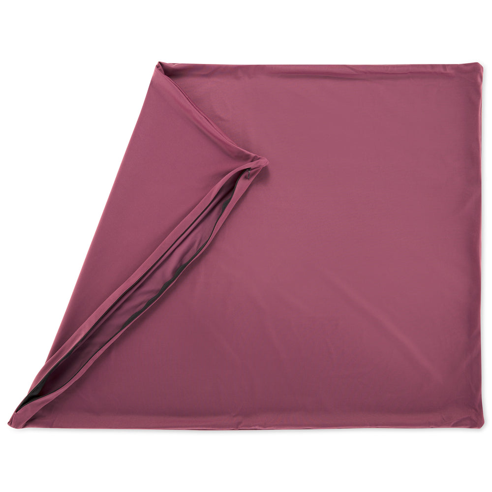 Cover Only for Premium Microbead Bed Pillow, X-Large Extra Smooth  - Ultra Comfortable Sleep with Silk Like Anti Aging Cover 85% spandex/ 15% nylon Breathable, Cooling Burgundy Merlot