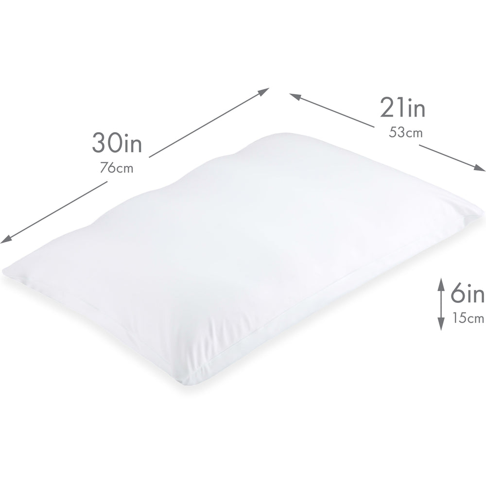 Cover Only for Premium Microbead Bed Pillow, X-Large Extra Smooth  - Ultra Comfortable Sleep with Silk Like Anti Aging Cover 85% spandex/ 15% nylon Breathable, Cooling Pure White