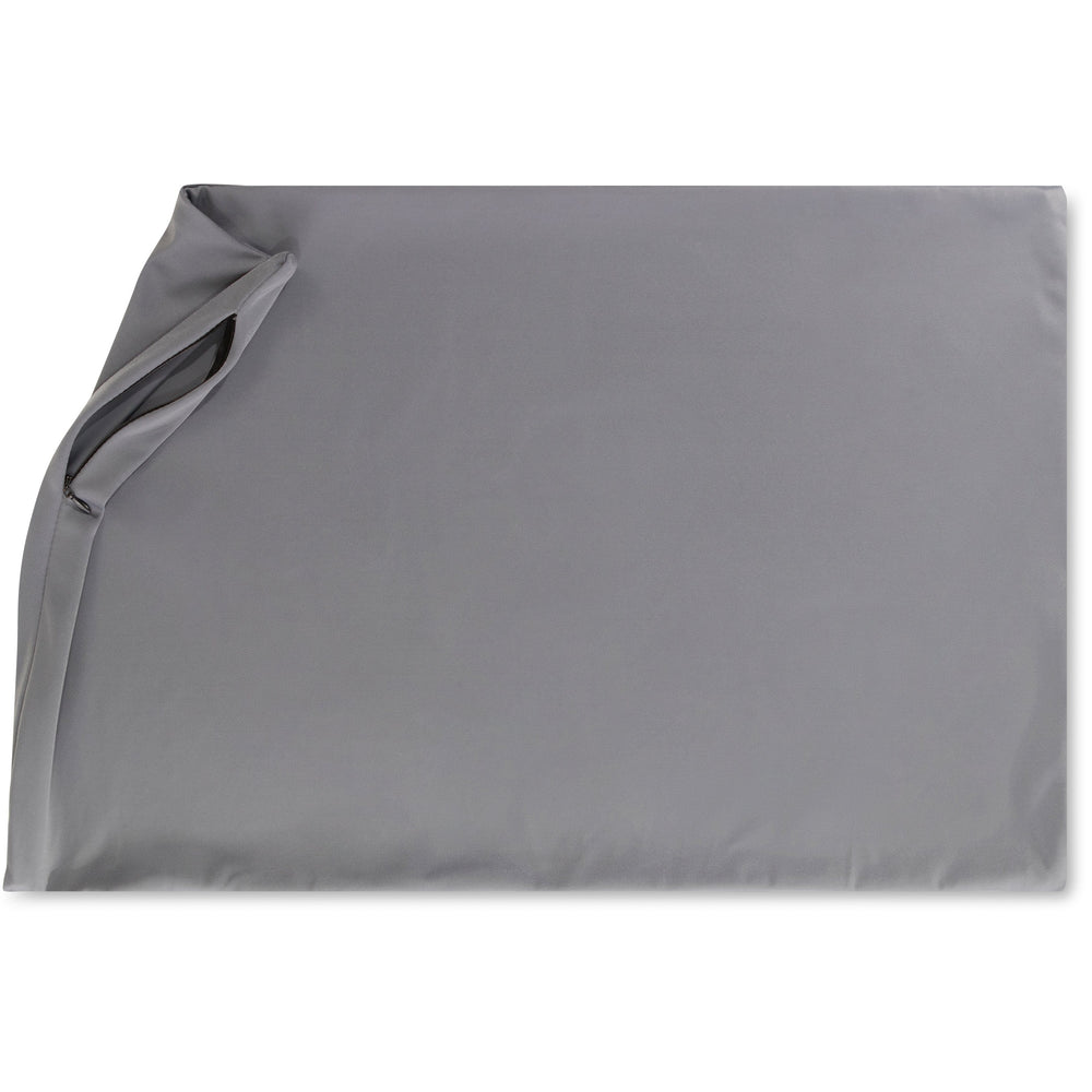 Cover Only for Premium Microbead Bed Pillow, Small Extra Smooth  - Ultra Comfortable Sleep with Silk Like Anti Aging Cover 85% spandex/ 15% nylon Breathable, Cooling Dark Grey