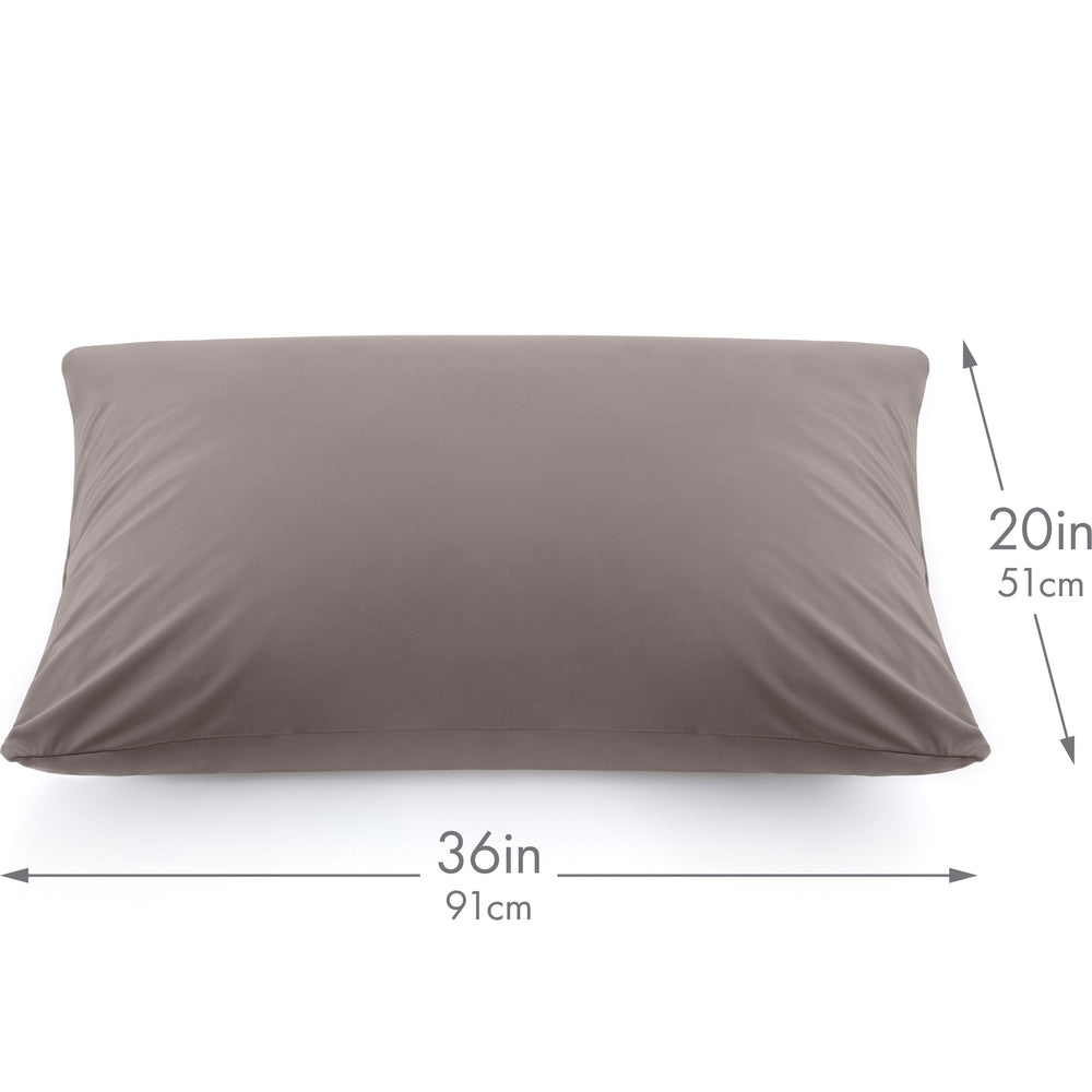 Ultra Silk Like Beauty Pillow Cover - Blend of 85% Nylon and 15% Spandex Means This Cover Is Designed to Keep Hair Tangle Free and Helps Skin - Bonus Matching Hair Scrunchie, Stone Grey, King