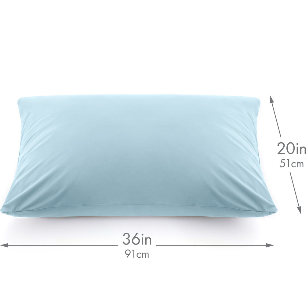 Ultra Silk Like Beauty Pillow Cover - Blend of 85% Nylon and 15% Spandex Means This Cover Is Designed to Keep Hair Tangle Free and Helps Skin - Bonus Matching Hair Scrunchie, Sweat Baby Blue, King