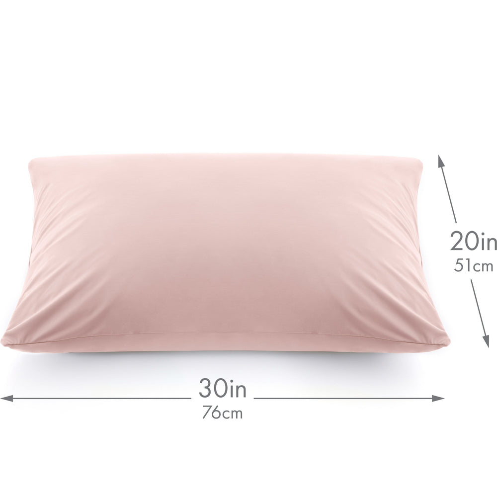 Ultra Silk Like Beauty Pillow Cover - Blend of 85% Nylon and 15% Spandex Means This Cover Is Designed to Keep Hair Tangle Free and Helps Skin - Bonus Matching Hair Scrunchie, Cream Peach, Queen