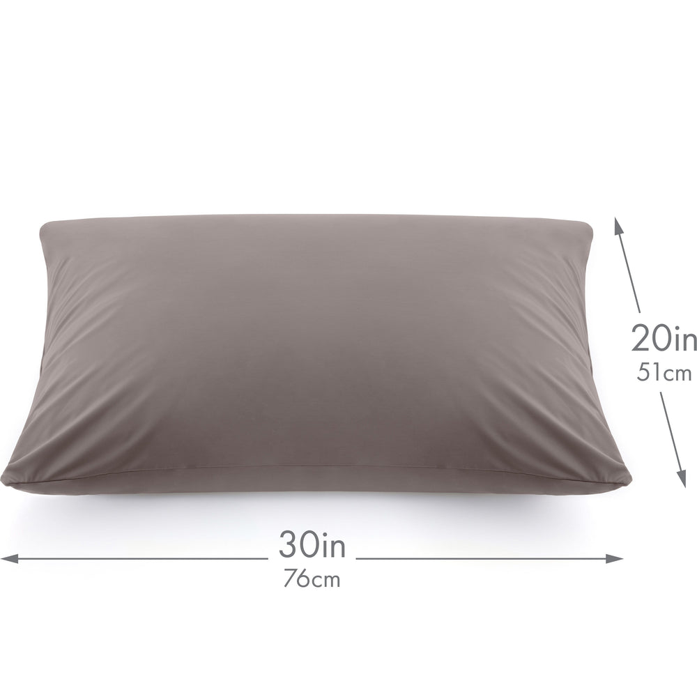 Ultra Silk Like Beauty Pillow Cover - Blend of 85% Nylon and 15% Spandex Means This Cover Is Designed to Keep Hair Tangle Free and Helps Skin - Bonus Matching Hair Scrunchie, Stone Grey, Queen